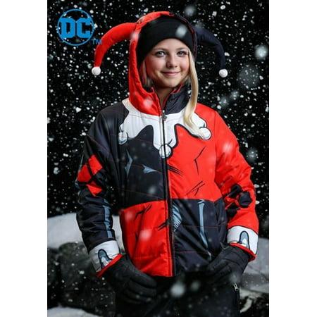 DC Comics Harley Quinn Girls Puffer - Harley Jacket