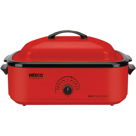 - Nesco 4818-12 18-Quart Porcelain Roaster Oven (Red)