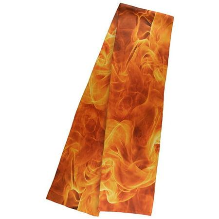 Flames Grill Fire Warm Fleece Scarf](Halloween Grillz)