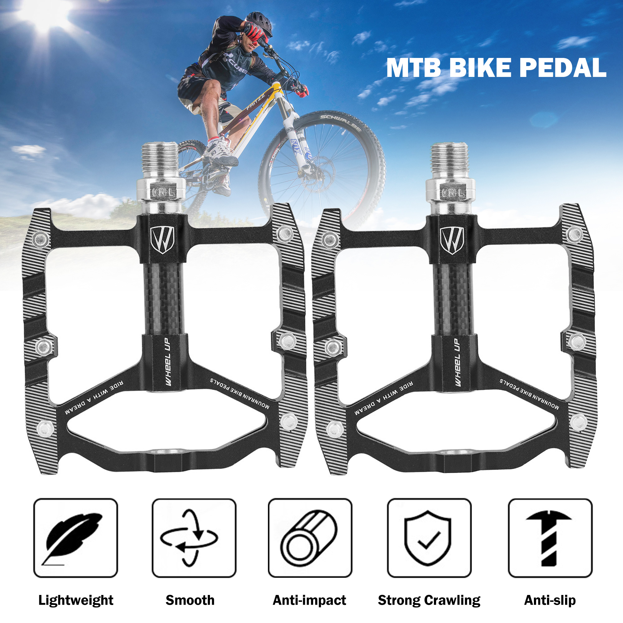 Outdoor Mountain Parts Bicycle Sealed MTB Bearing Colors Pedals CNC 6 BIKEIN
