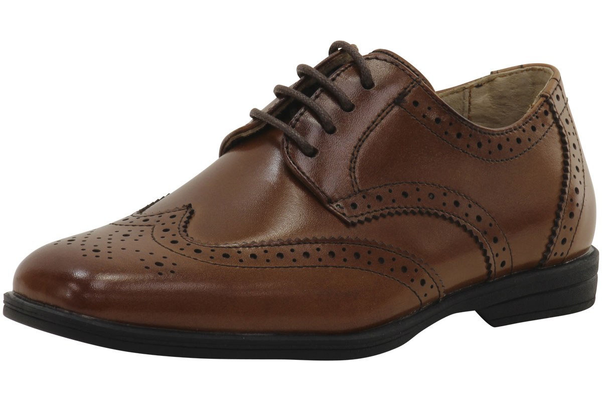 Florsheim Kids Little Big Boy's Reveal Wing Jr. Wingtip Oxfords Shoes by Florsheim