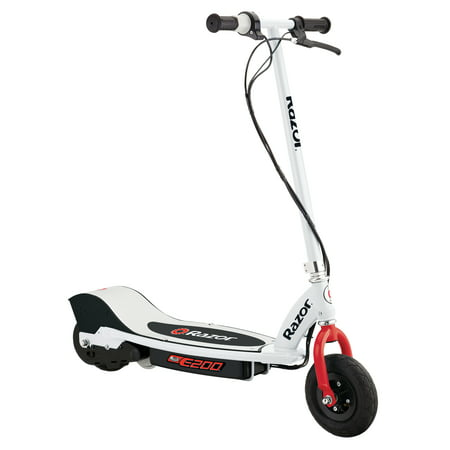 Razor E200 Electric Scooter White Red