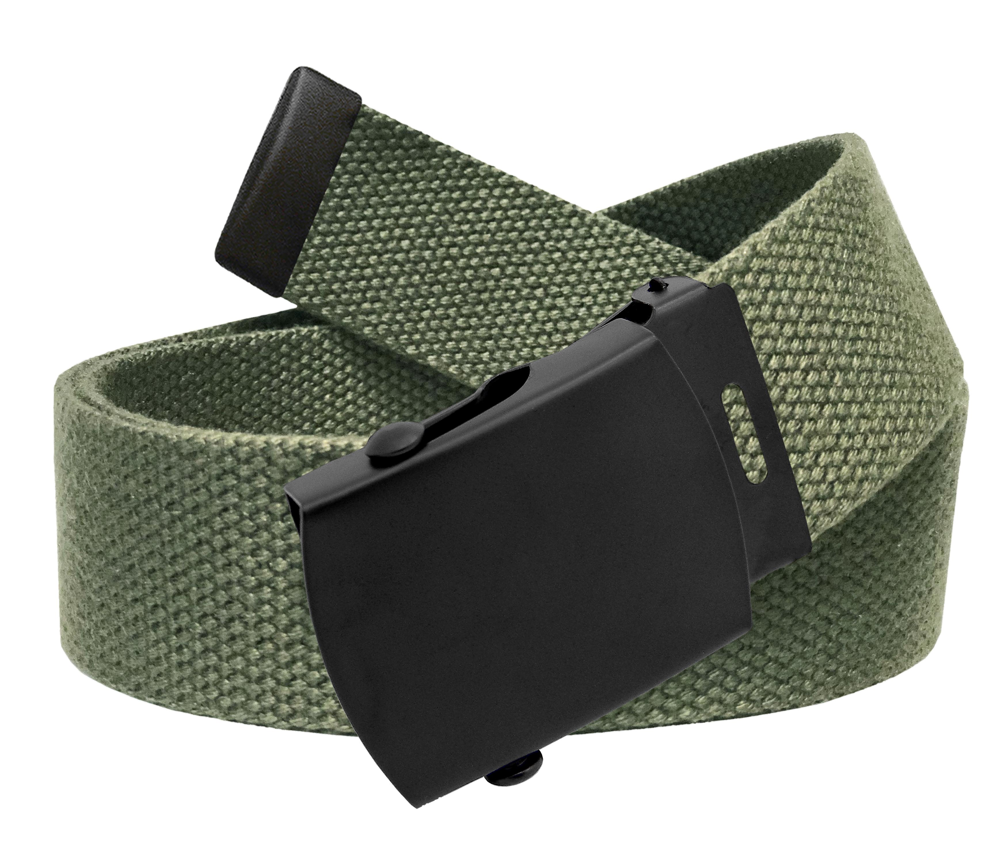 78b450c8d09c4b Build A Belt - All Sizes Men's Golf Belt in 1.5 Black Slider Belt Buckle  with Adjustable Canvas Web Belt Small Black - Walmart.com