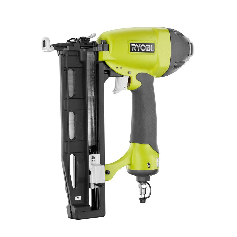 Ryobi Straight Finishing Nailer YG250FS 2.5 in. x 16 Gauge Pneumatic Nail Gun Tool Kit by