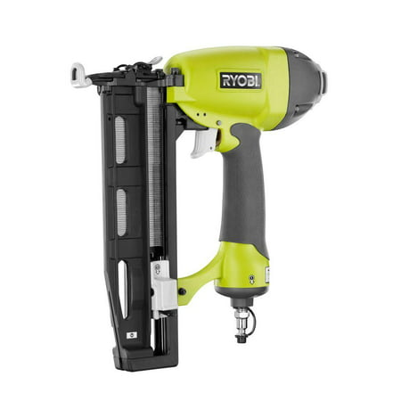 Ryobi Straight Finishing Nailer YG250FS 2.5 in. x 16 Gauge Pneumatic Nail Gun Tool Kit 18 Gauge Straight Finish