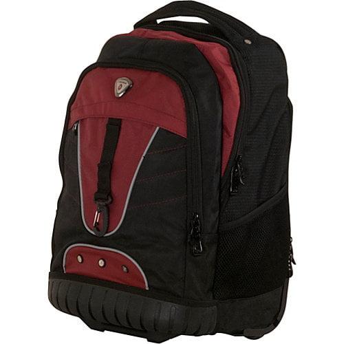 "CalPak Night Vision 18"" Rolling Laptop Backpack"