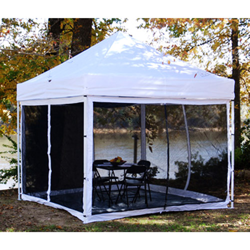 King Canopy EPA1PBS10WH Instant Canopy Bug Screen Room 1 Piece 10x10 With Floor - Walmart.com & King Canopy EPA1PBS10WH Instant Canopy Bug Screen Room 1 Piece ...