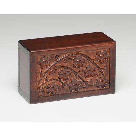 Bogati Cherry Blossom Wooden Urn Box (Extra Small)](Small Wooden Box Plans)
