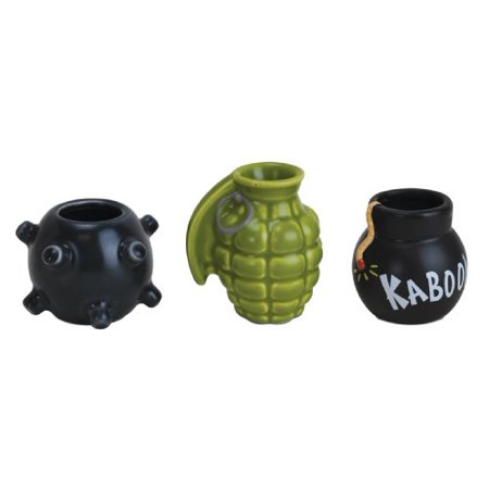 BigMouth Inc Get Bombed Shot Glasses, Assorted Set (3 Pack) for $<!---->