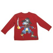 Little Boys Red Pirate Sword Graphic Print Long Sleeved T-Shirt 4-7