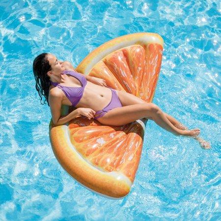 Intex Giant Inflatable 70 Inch Orange Slice Swimming Pool Float Raft (6 Pack) - image 4 of 6