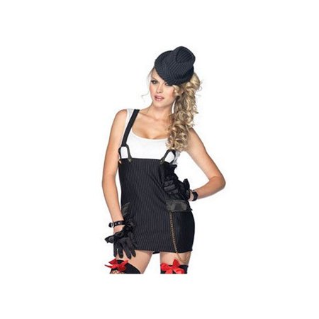 Leg Avenue Gangster Girl Costume Set 83866 Black/White (1920 Girl Gangster)