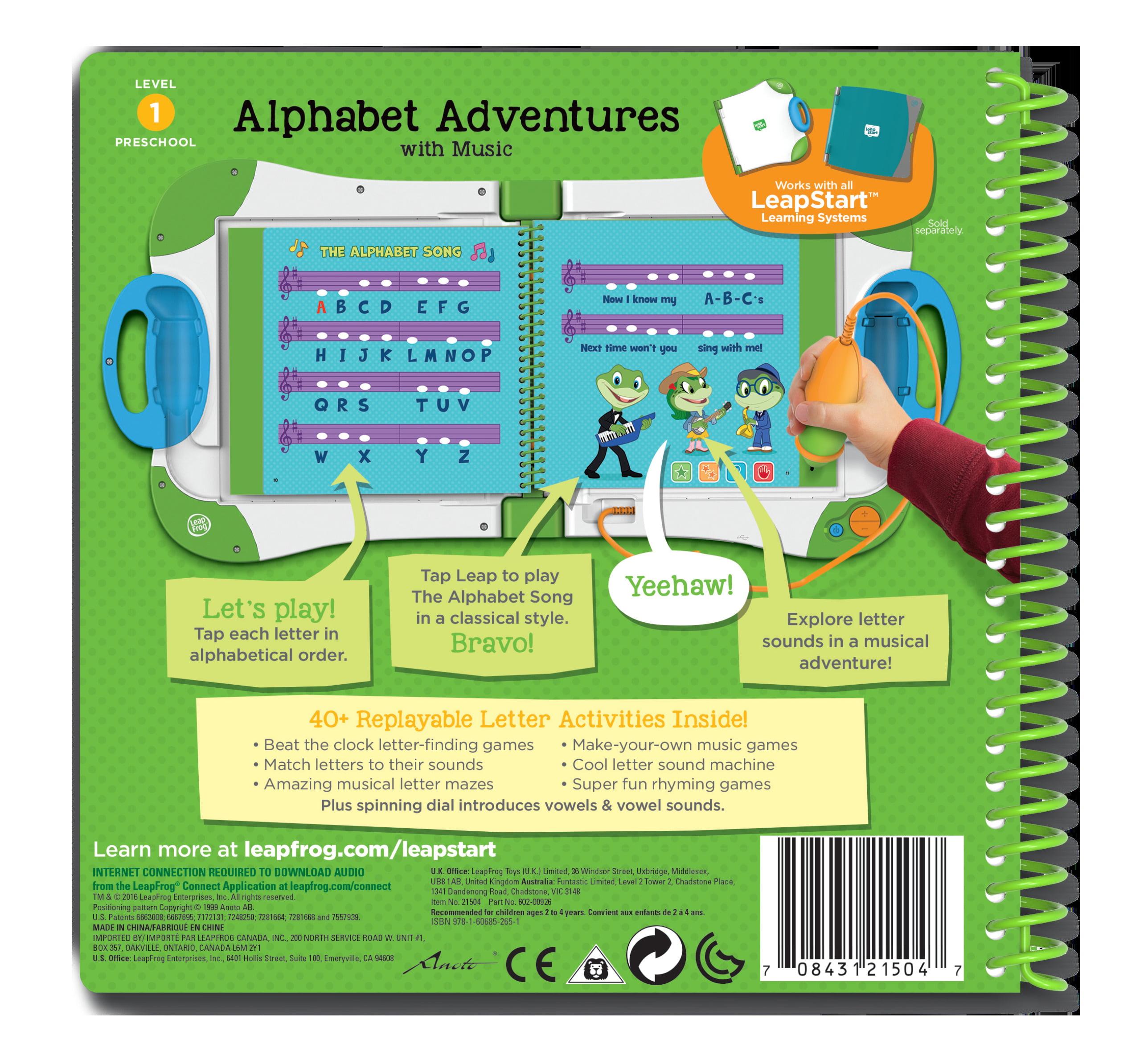 LeapFrog® LeapStart™ Preschool Alphabet Adventures Activity Book ...