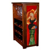 """""""Big Red"""" by Jill Neal Wine Cabinet"""