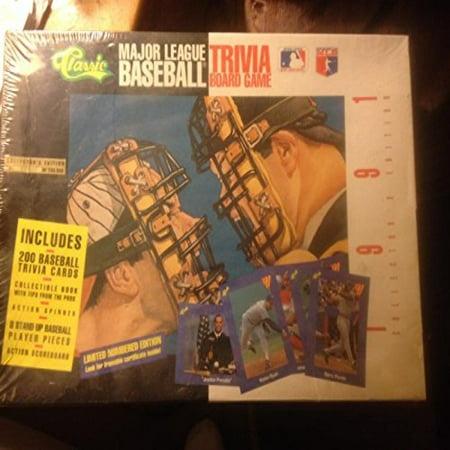 Major League Baseball Trivia Board Game; 1991 Collector's Edition by Classic Games](Nebraska Baseball Halloween Game)