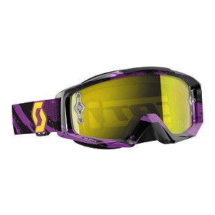 Scott USA Tyrant Zebra 2016 MX/Offroad Goggles Purple/Yellow/Yellow Chrome Works
