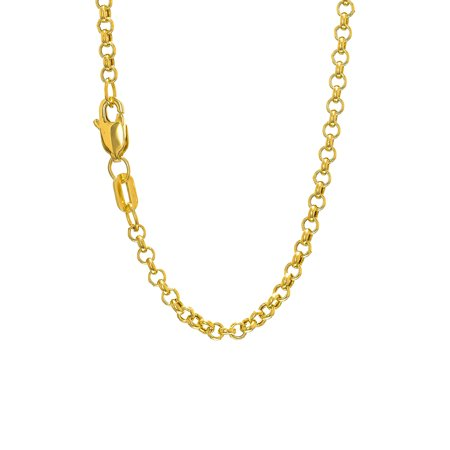(14k Yellow Or White Gold 2.3mm Rolo Chain Bracelet Necklace 7