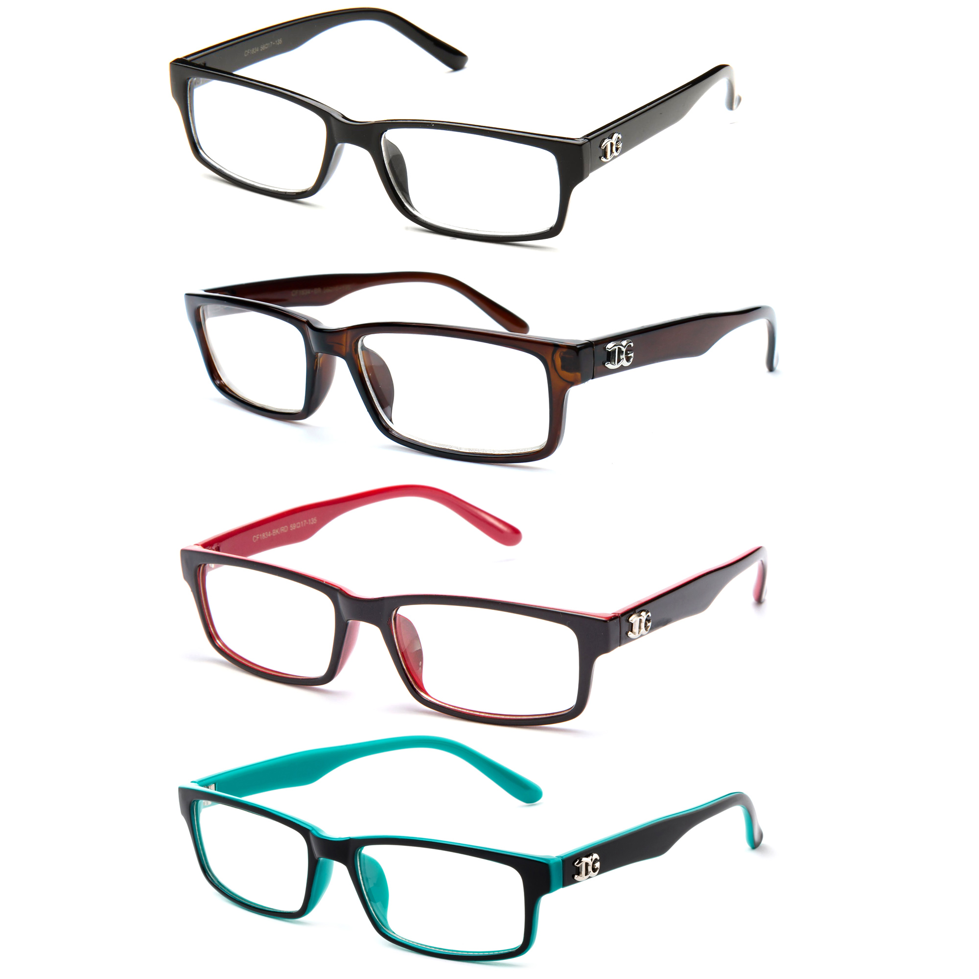 """Newbee Fashion - """"Kay"""" Unisex Clear Lens Plastic Fashion Glasses"""
