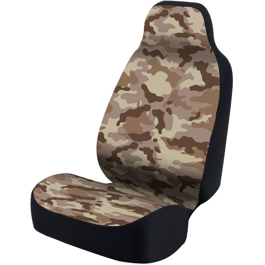 Coverking Universal Seat Cover Designer, Ultra Suede Traditional Camo Sand
