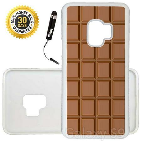 Custom Chocolate - Custom Galaxy S9 Case (Chocolate) Edge-to-Edge Rubber White Cover Ultra Slim   Lightweight   Includes Stylus Pen by Innosub