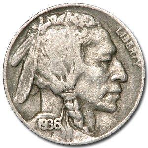 1936-D Buffalo Nickel Good+