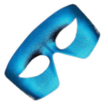 Masquerade Blue Non-Light Up Metallic Mask Mardi Gras](Metallic Mask)