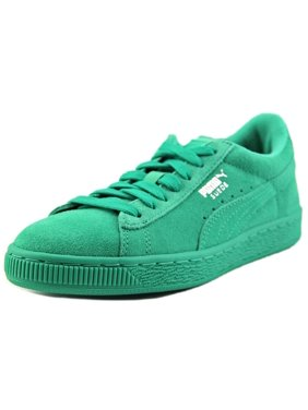 4cf2b7afcd70 Product Image Puma Suede Jr Youth Round Toe Suede Green Sneakers