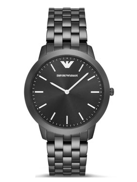 82325373b4a2 Product Image Emporio Armani AR2488 Retro Black Dial Black IP Stainless  Steel Men s Watch