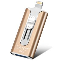 iOS Flash Drive 32GB iPhone Memory Stick, EATOP INC Thumb Drive USB 3.0 Memory Stick External Memory Storage Compatible with iPhone, iPad, iPod, Mac, Android and Computers (Silver)
