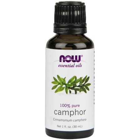 NOW Essential Oils, Camphor Oil, Camphorous Aromatherapy Scent, 100% Pure and Purity Tested, Vegan, 1-Ounce (Camphor Glass)