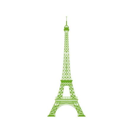 Eiffel Tower 2 Vinyl Graphic Medium Green Apple