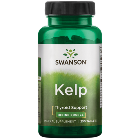 Swanson Kelp Iodine Source 225 mcg 250 Tabs (Elevit With Iodine 100 Tablets Best Price)