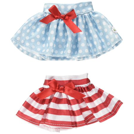 Elf on the Shelf Claus Couture TWIRLING In The Snow Skirts Novelty, Red/Blue/White, Christmas candy cane stripe skirt with red satin bow at.., By The Elf on the Shelf](Candy Cane Elf)