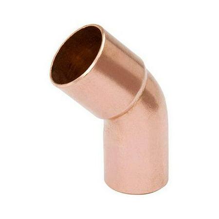 B&K W 63344 Pipe Fitting, Wrot Copper Street Elbow, 45 Degree, 1-In.