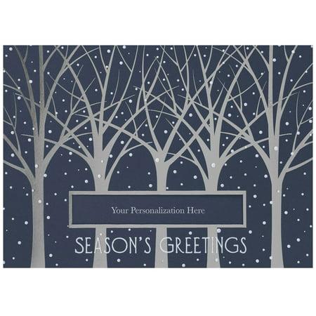 jam paper blank christmas card sets tree line with die cut