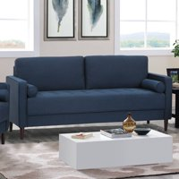 Deals on Lifestyle Lillith Mid Century Modern Sofa in Navy Blue