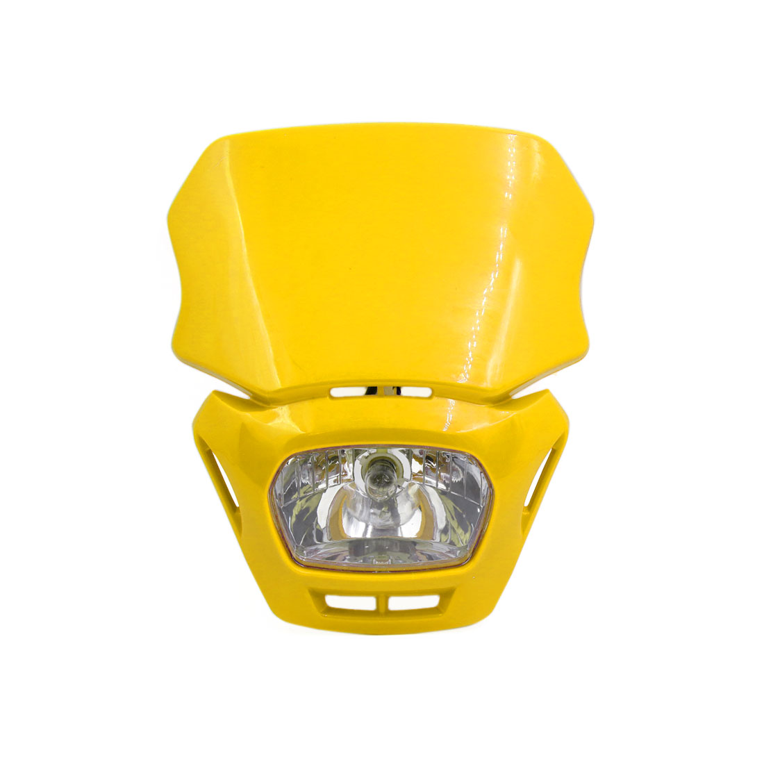 Yellow Shell Motorcycle Street Fighter Front Headlight Fairing Lamp Light Yellow