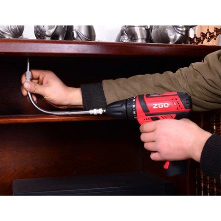 Home Metal Multi-Angle Universal Flexible Shaft for Electronic Drill Metal shaft 300MM long (98g) - Long Metal Shaft