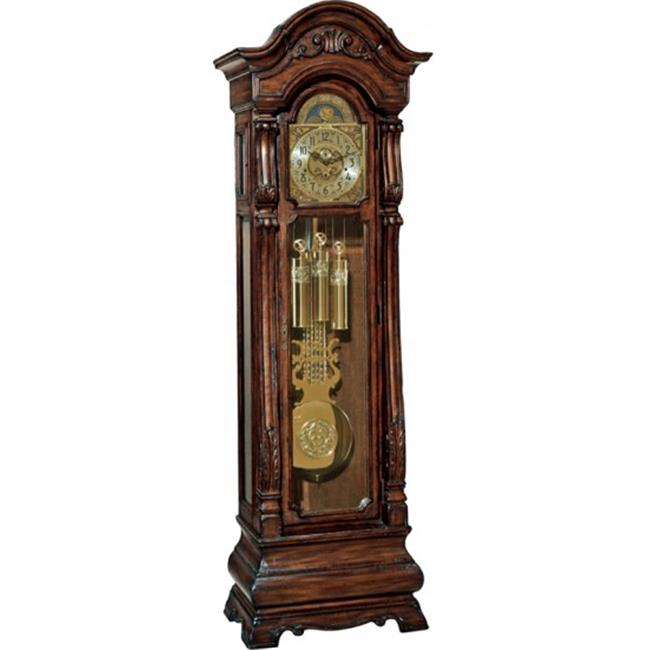 Hermle 010920031161 Triple Chiming Mechanical Salerno Grandfather Clock Walnut by