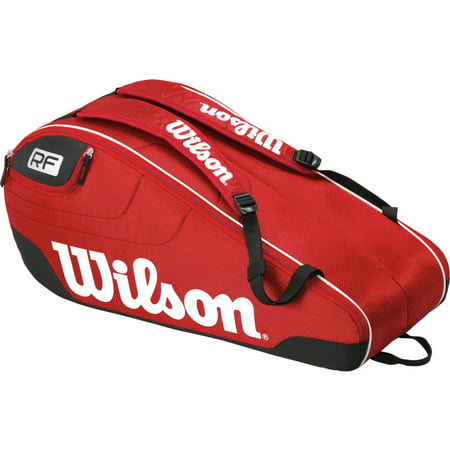 422d4eada7 Wilson Federer Team 6-Pack Tennis Bag (Red) - Walmart.com