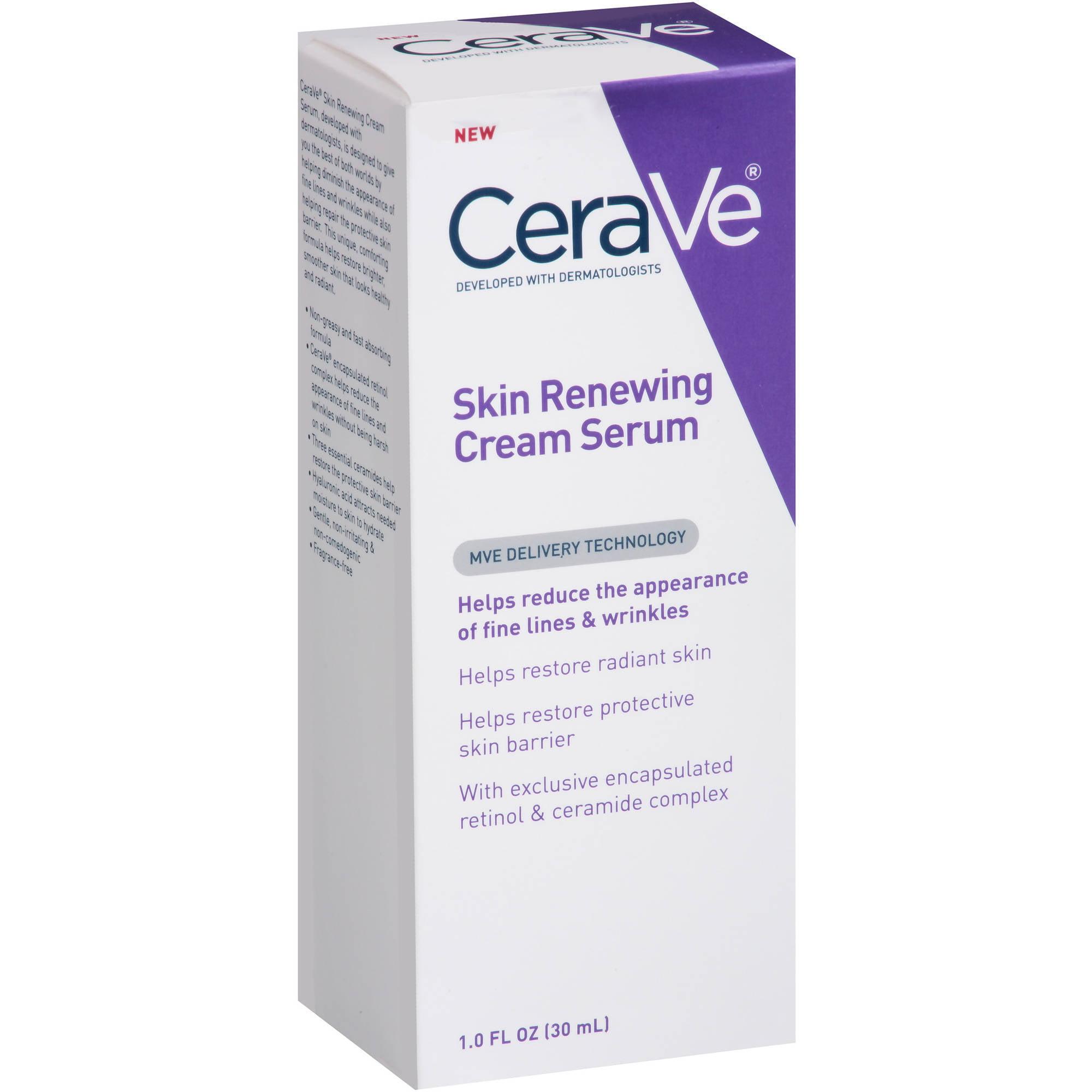 CeraVe Skin Renewing Cream Serum, 1 fl oz