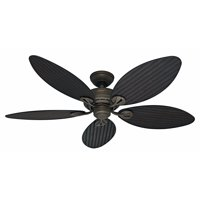 """Hunter 54"""" Bayview Provencal Gold Ceiling Fan with Pull Chain"""