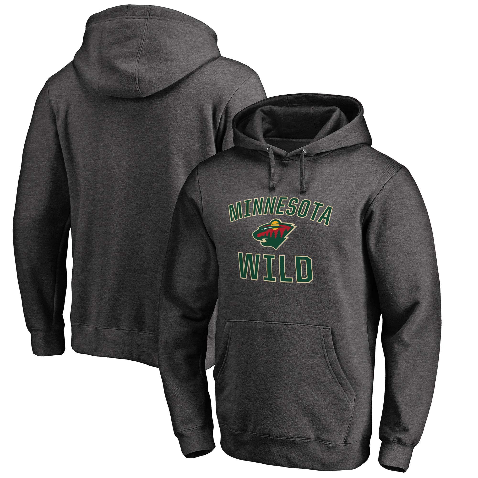 Minnesota Wild Victory Arch Fleece Pullover Hoodie - Dark Gray