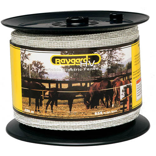 Baygard Parker Mccrory 00680 656' White High Visibility Electric Fence Tape
