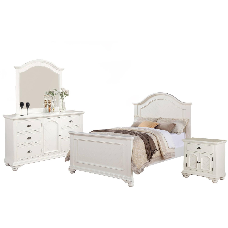 b7f2f3116d3a4 Picket House Furnishings Addison White Panel Bedroom Set