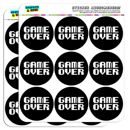Gamer Sticker (Game Over Gamer Pixel Font Geek 2
