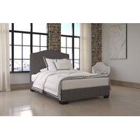 DHP Gavin Upholstered Platform Bed, Grey Linen, Full