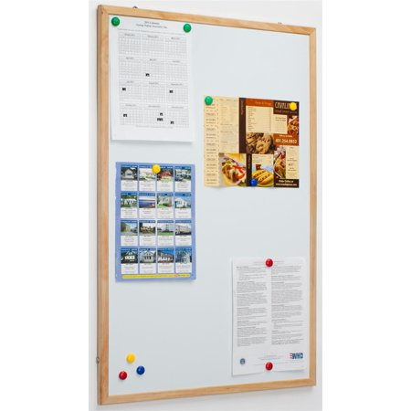 """Magnetic Whiteboard with 34""""x 22"""" Writing Space and Finished ..."""