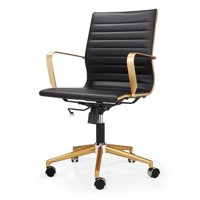 M344 Mid Back Office Chair- Gold Frame