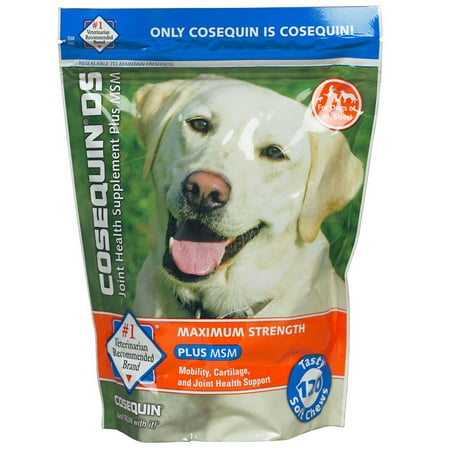 Nutramax Cosequin Maximum Strength (DS) Plus MSM Joint Health Dog , 120 Soft